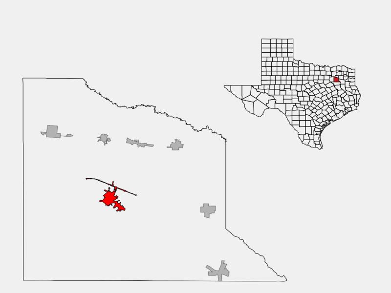 Canton locator map