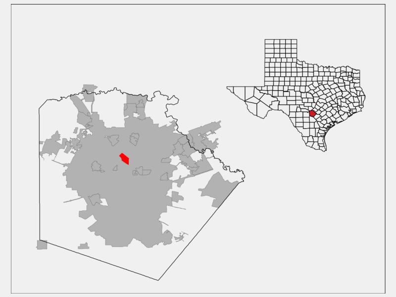 Castle Hills location map