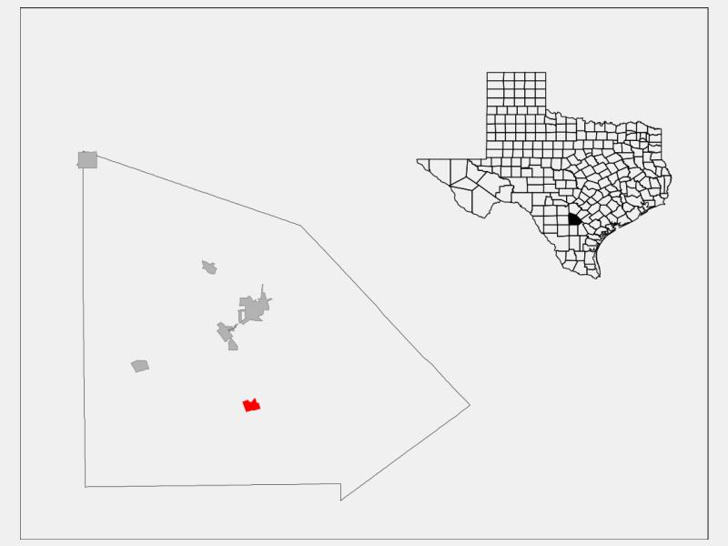 Christine locator map