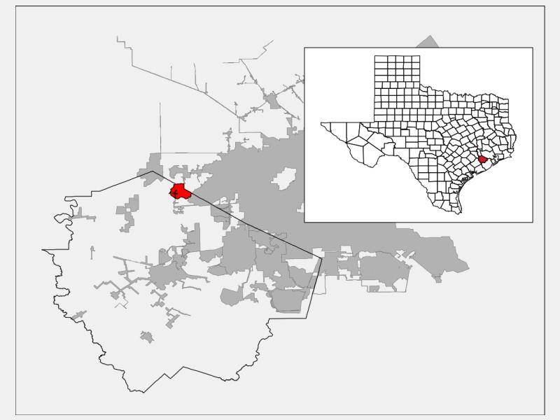 Cinco Ranch locator map
