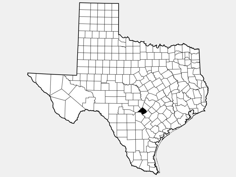 Comal County, TX locator map