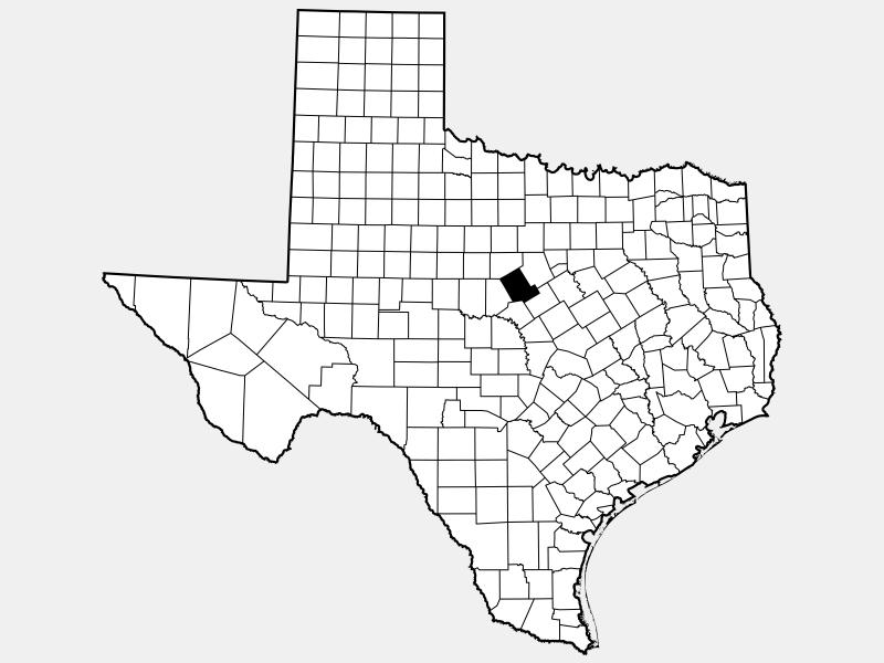 Comanche County locator map