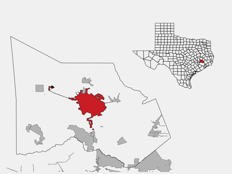 Conroe, TX locator map