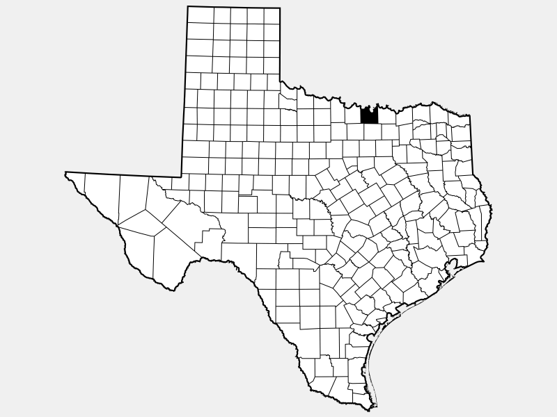 Cooke County locator map