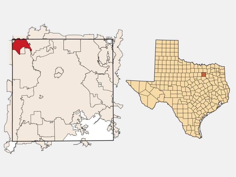 Coppell locator map