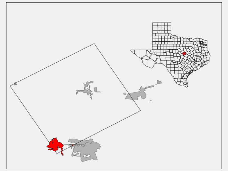 Copperas Cove, TX locator map