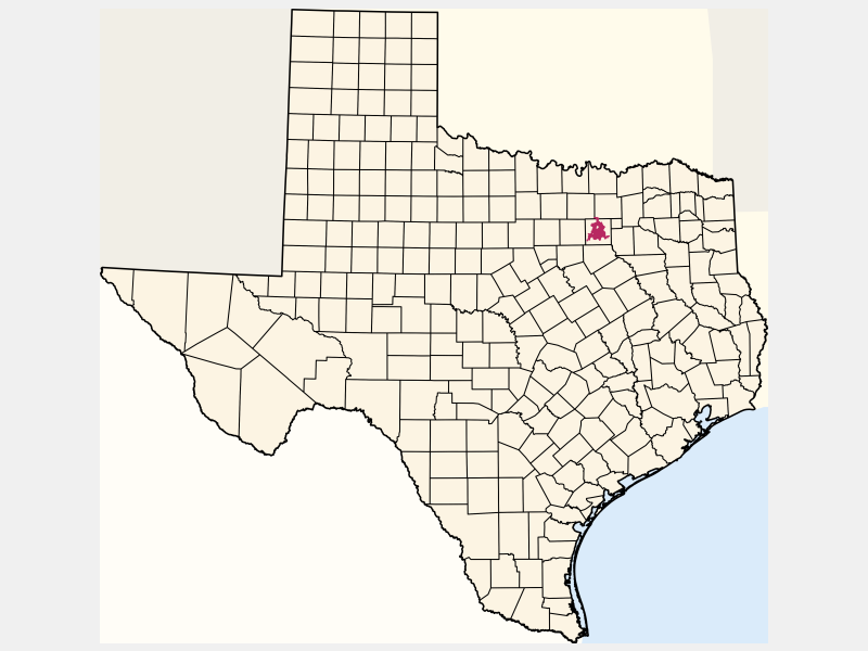Dallas locator map