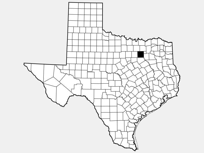 Dallas County, TX locator map