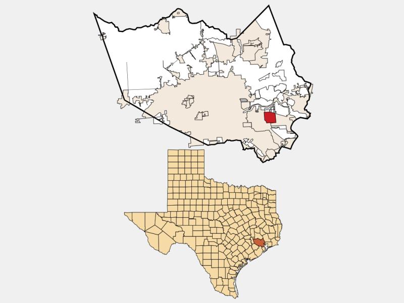 Deer Park, TX locator map