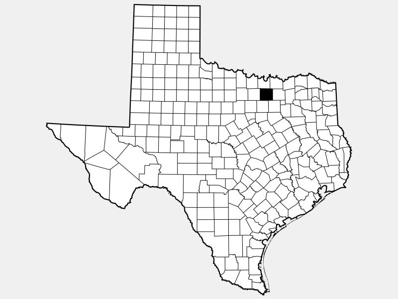 Denton County locator map