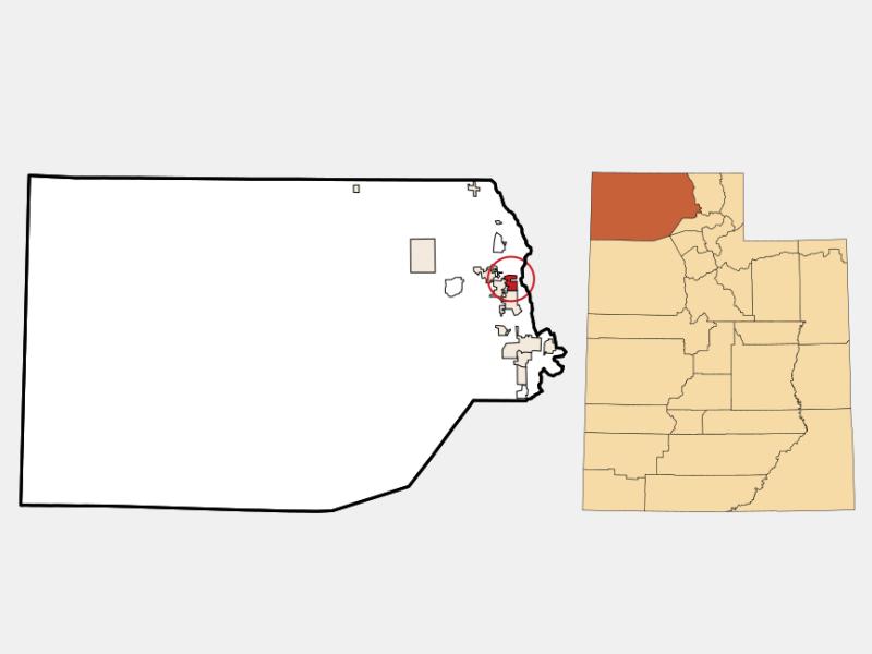 Deweyville locator map