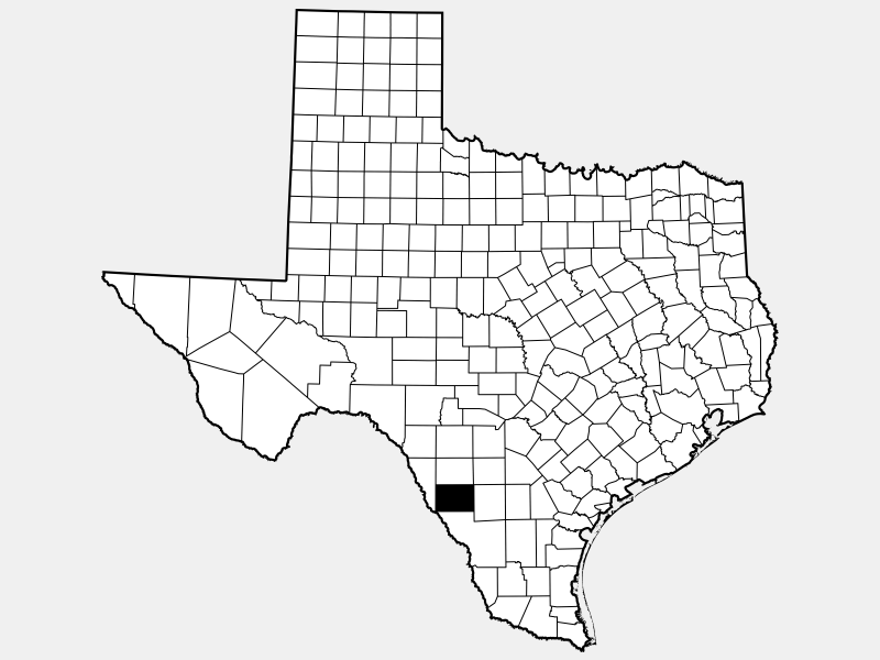 Dimmit County locator map