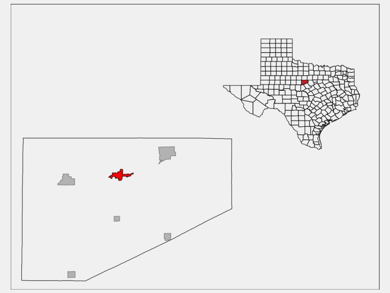 Eastland location map