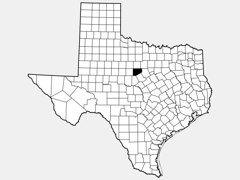 Eastland County locator map