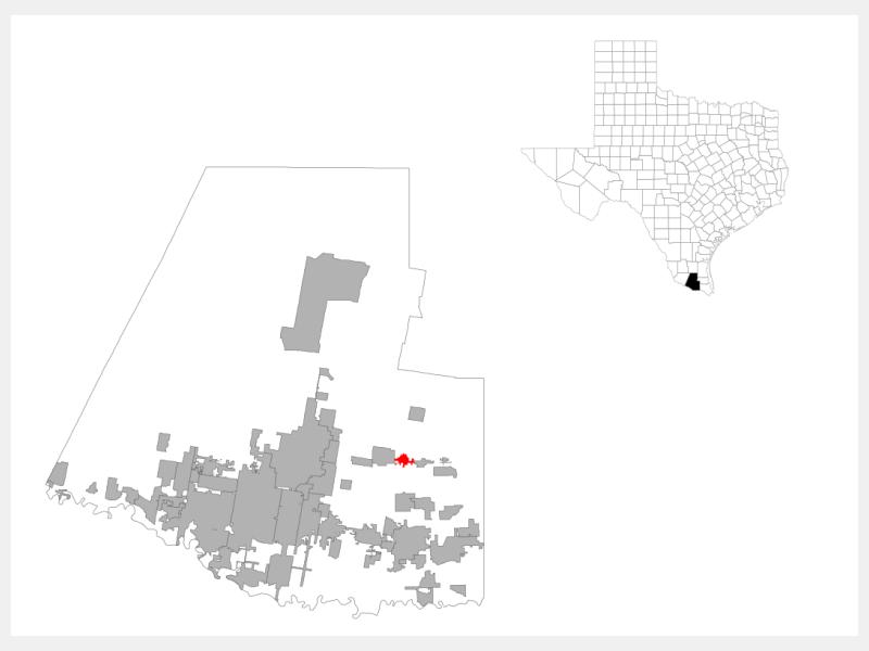 Edcouch locator map