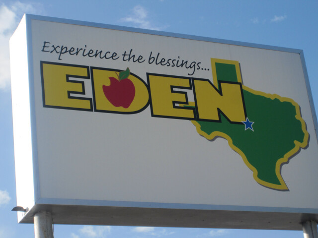 Eden  TX  welcome sign IMG 4385 image
