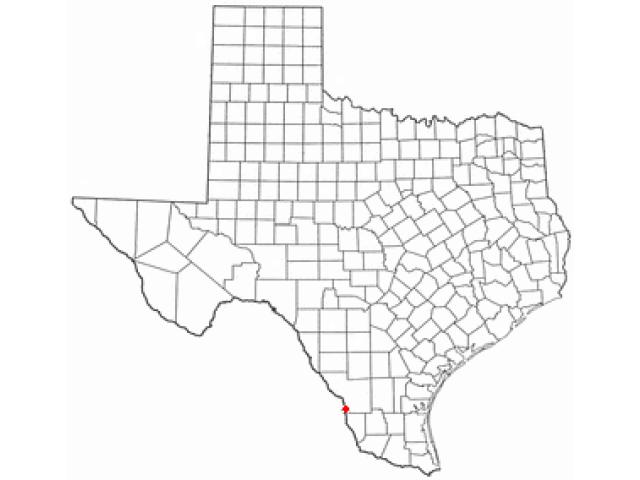 El Cenizo locator map