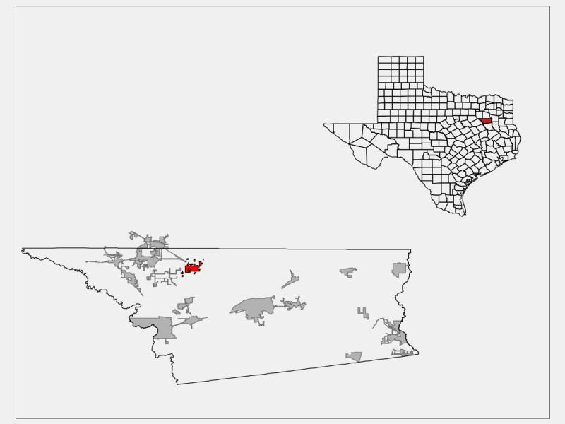 Eustace location map