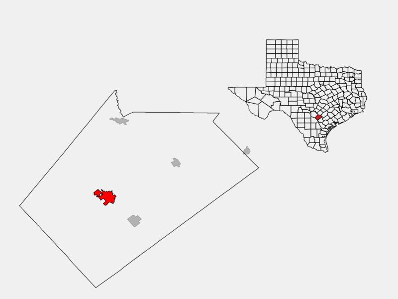 Floresville locator map