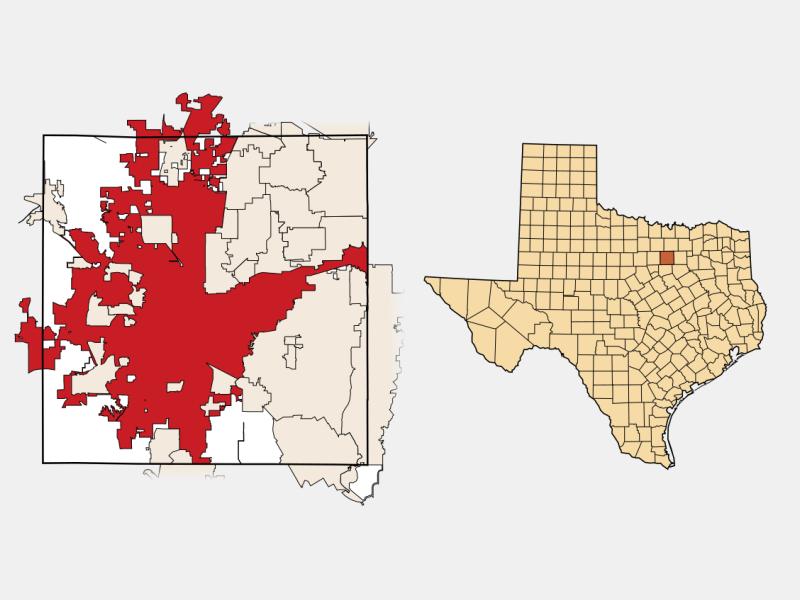 Fort Worth, TX locator map