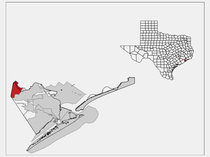 Friendswood, TX locator map