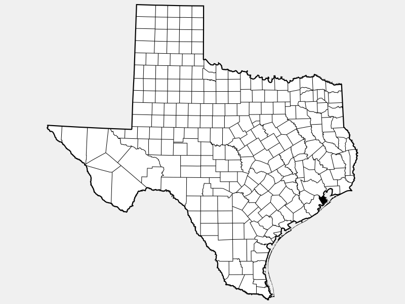 Galveston County locator map