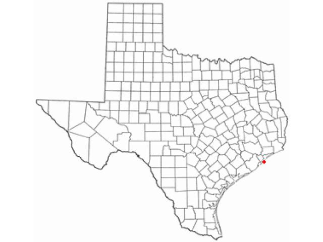 Galveston, TX locator map