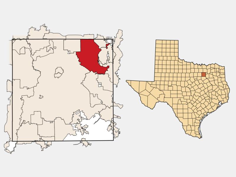 Garland locator map