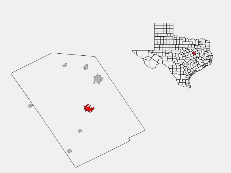 Groesbeck locator map
