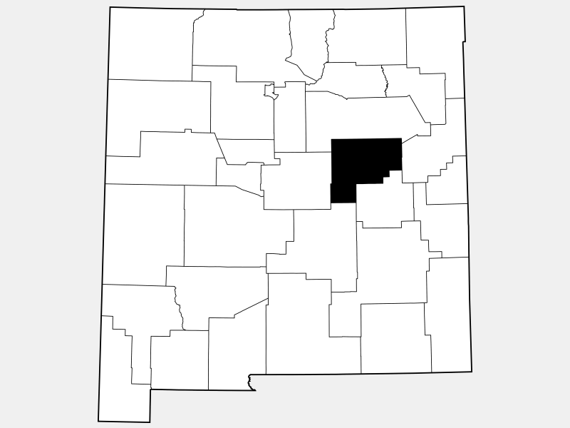 Guadalupe County locator map