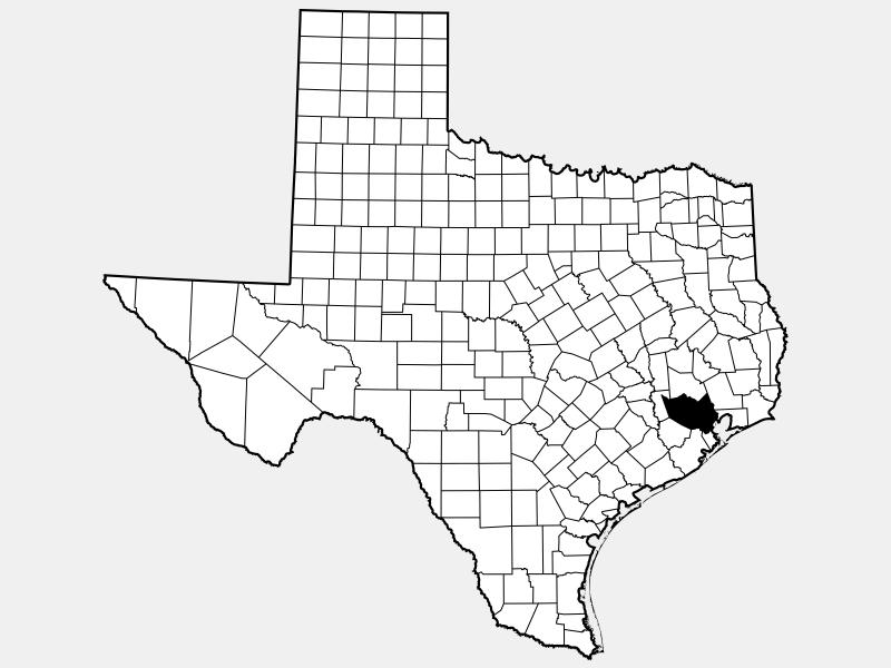 Harris County, TX locator map