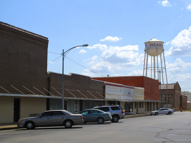 Hearne TX - downtown with water tower image
