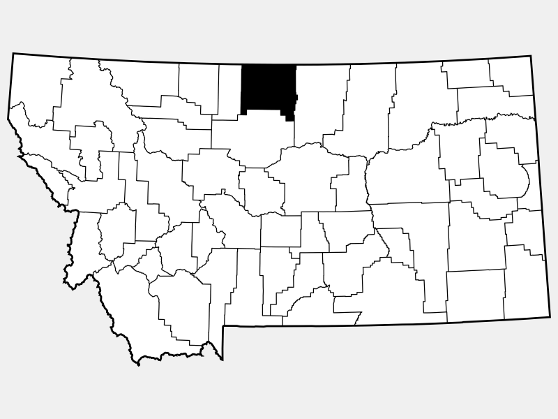 Hill County locator map