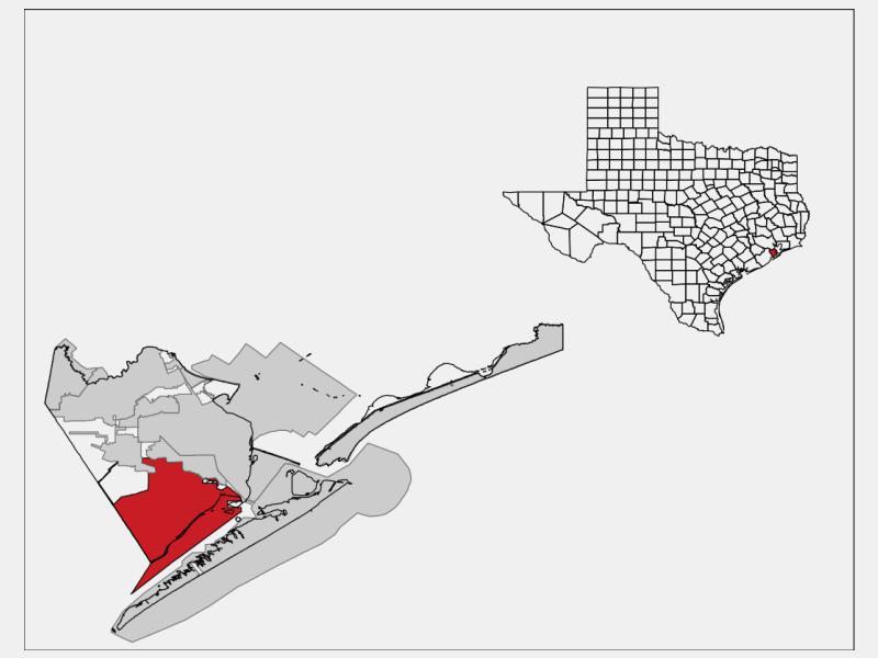 Hitchcock locator map