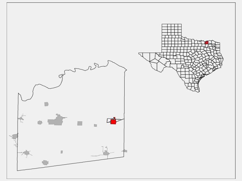 Honey Grove locator map