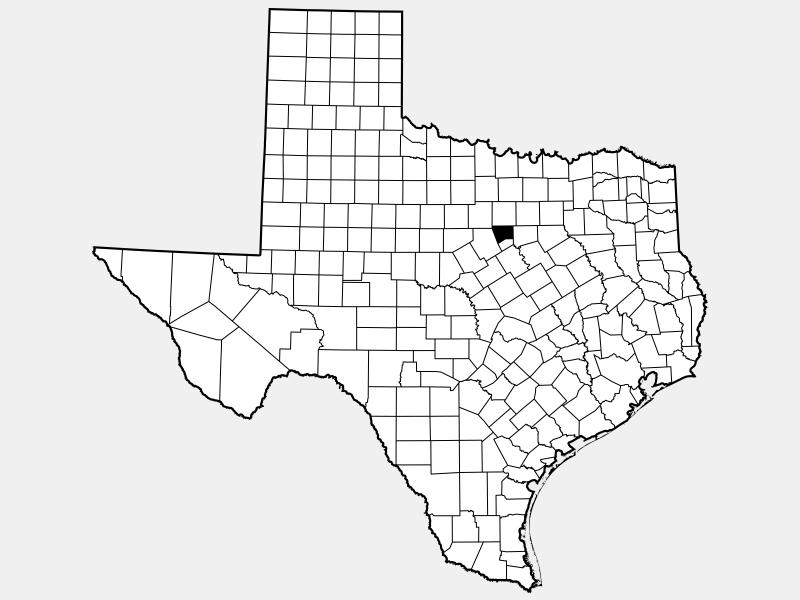 Hood County locator map
