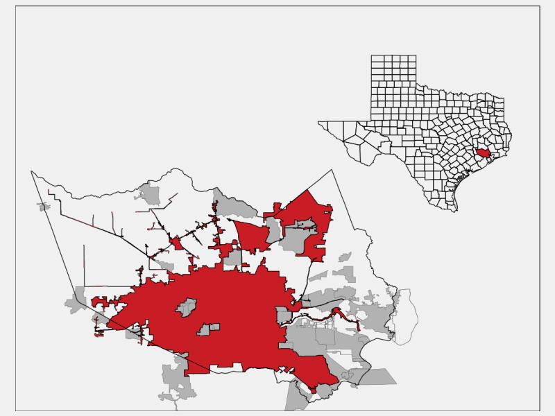 Houston location map