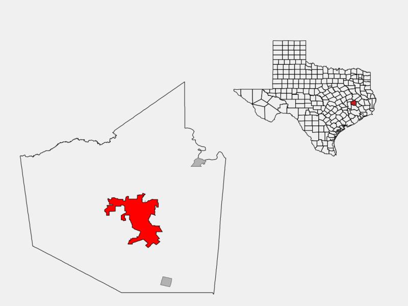Huntsville, TX locator map