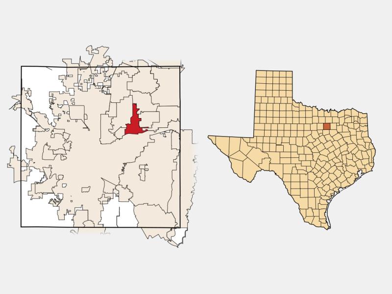 Hurst, TX locator map
