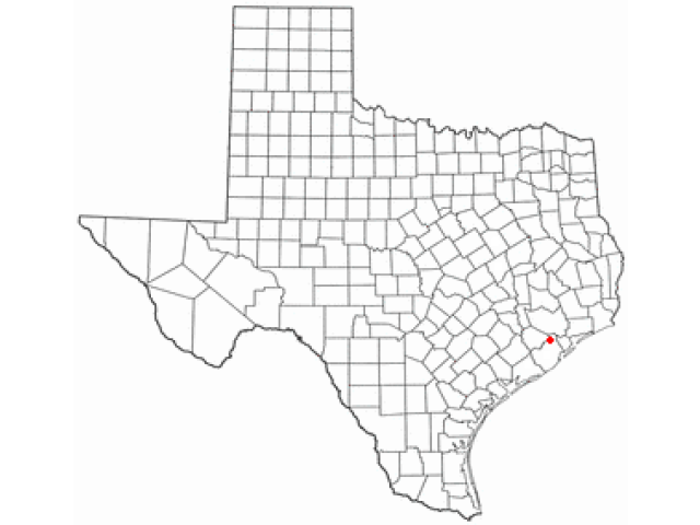 Iowa Colony locator map