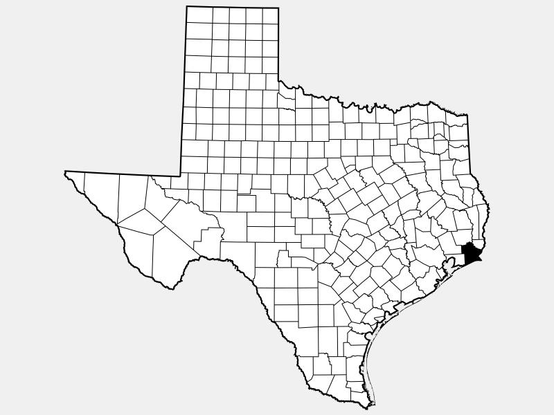 Jefferson County, TX locator map