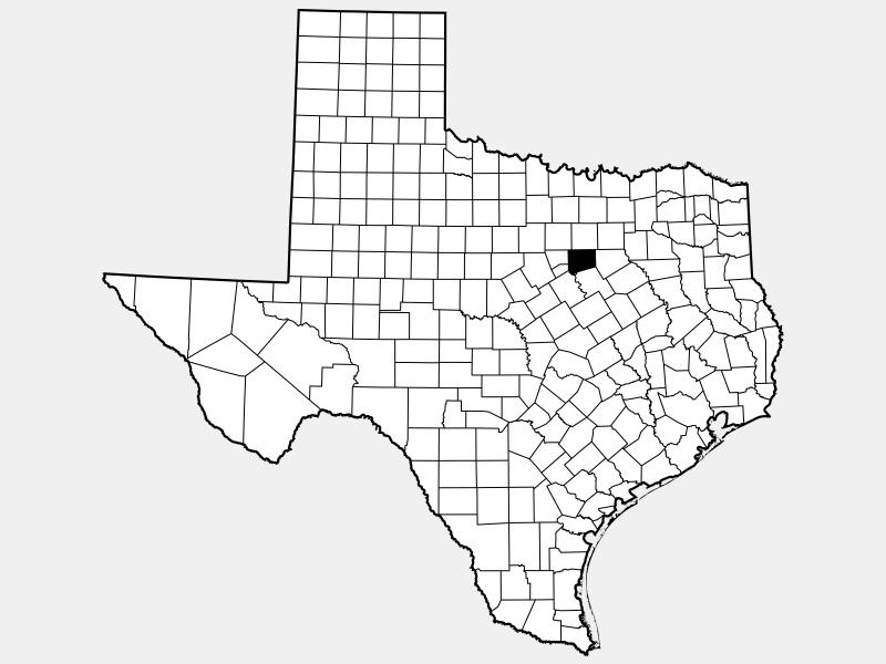 Johnson County, TX locator map
