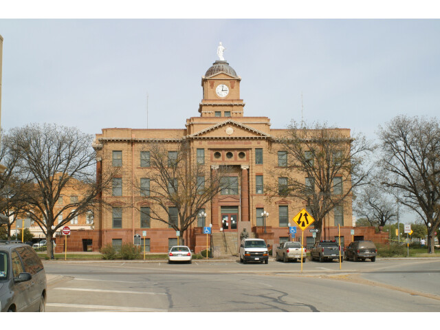 Jones County Courthouse Anson Texas 2009 image