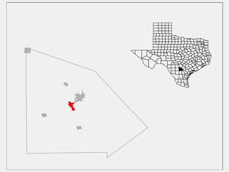 Jourdanton locator map