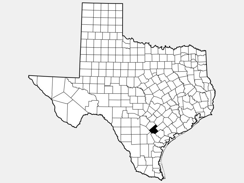 Karnes County locator map