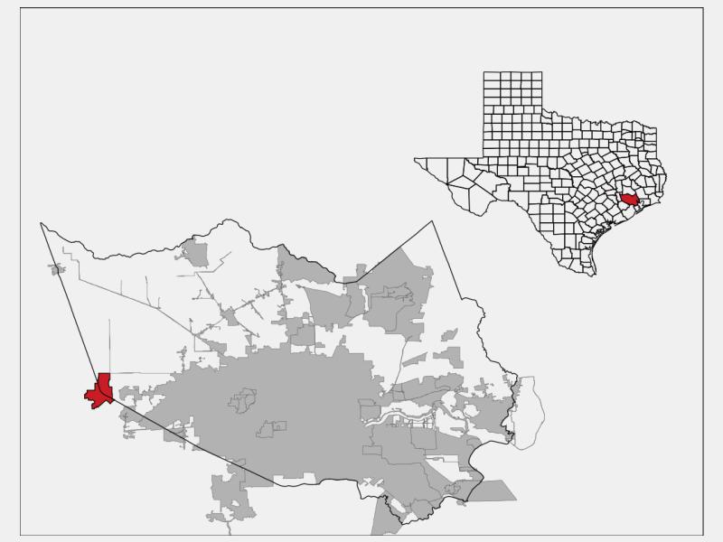 Katy locator map
