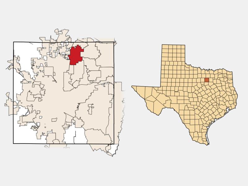 Keller locator map