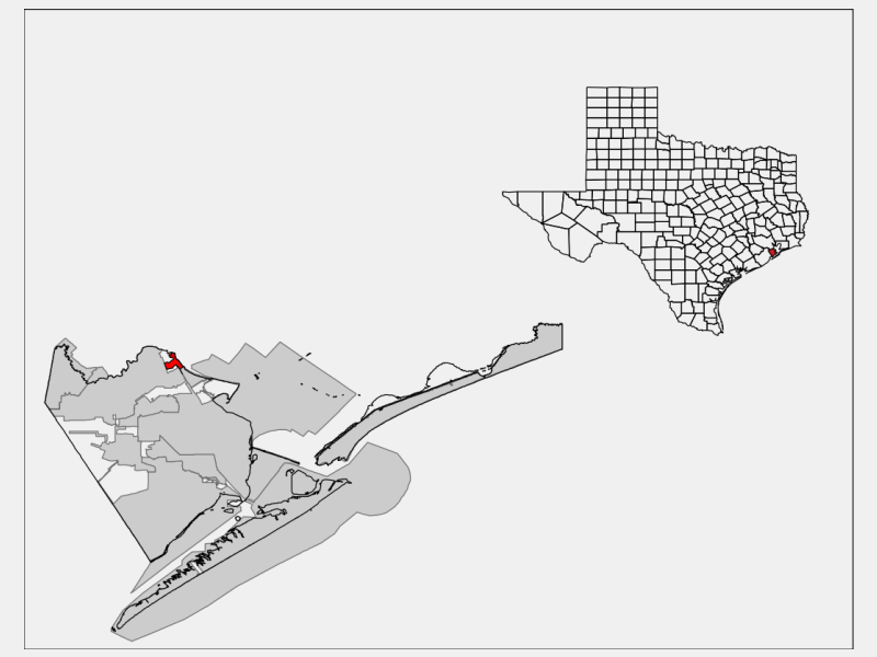 Kemah locator map