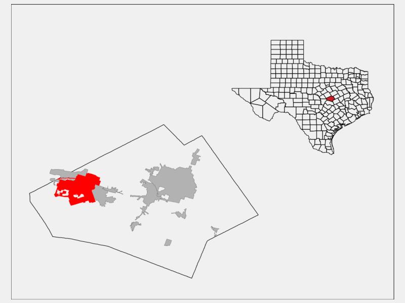 Killeen locator map