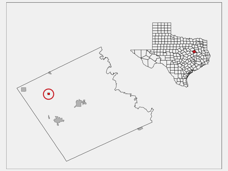 Kirvin location map